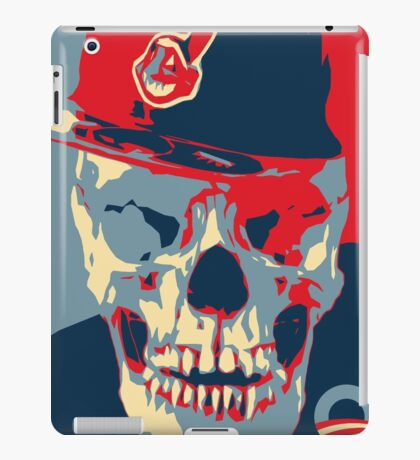 """Rage Skull Portrait inspired by the Barack Obama """"Hope"""" poster designed by Shepard Fairey. iPad Case/Skin"""