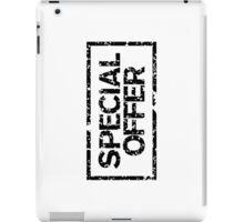 Special Offer (Black) iPad Case/Skin