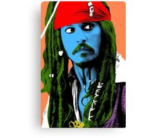 Captain Jack Sparrow Andy Warhol style Poster, Pop Art Big Digital Poster Portrait.  Canvas Print
