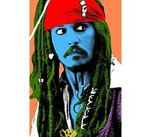 Captain Jack Sparrow Andy Warhol style Poster, Pop Art Big Digital Poster Portrait.  Photographic Print