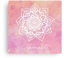 Namaste - Rose Quartz Canvas Print