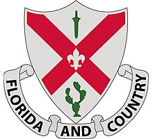 124th Infantry Regiment - Florida and Country Photographic Print