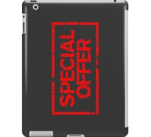 Special Offer (Red) iPad Case/Skin