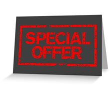 Special Offer (Red) Greeting Card