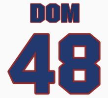 National football player Dom Fucci jersey 48 by imsport