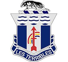 127th Infantry Regiment - LES TERRIBLES - The Terrible Ones Photographic Print