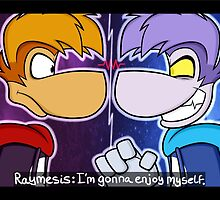 rayman vs raymesis by partybenson