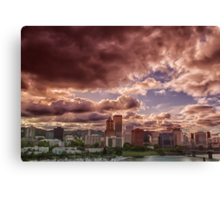 Portland Skyline Canvas Print