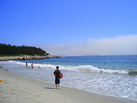Crystal Crescent Beach, Sambro Nova Scotia Canada by Doreen