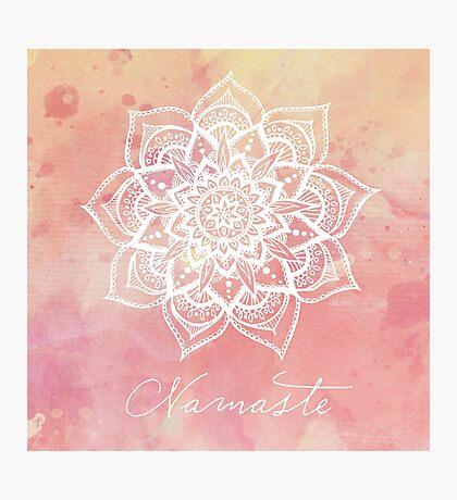 Namaste - Strawberry Quartz Photographic Print