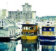 Boat houses in Vancouver by Eti Reid