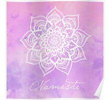 Namaste - Amethyst Poster