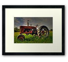 Farmall Field Of Green Framed Print
