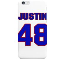 National football player Justin Snow jersey 48 iPhone Case/Skin