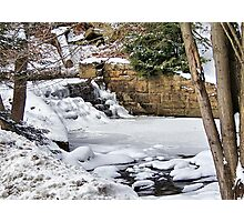 Winterfalls Photographic Print