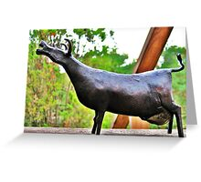 The Iron Lady Cow Greeting Card
