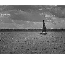 boat on Narragansett Bay, Newport, RI Photographic Print