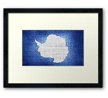 Antarctica flag Framed Print
