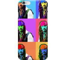 Captain Jack Sparrow Andy Warhol style Poster, Pop Art 6 Color Digital Poster Portrait. Pirates of the Caribbean. iPhone Case/Skin