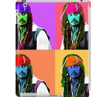 Captain Jack Sparrow Andy Warhol style Poster, Pop Art 6 Color Digital Poster Portrait. Pirates of the Caribbean. iPad Case/Skin