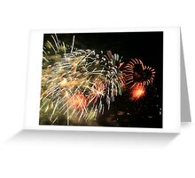 Fireworks - Loveheart Greeting Card
