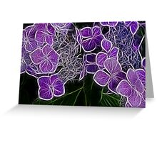Colour me Purple  Greeting Card