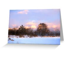 Watercolor Winter - Colorful Day on the Lake Greeting Card