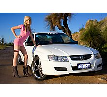 Hot Girls love Hot Cars Photographic Print
