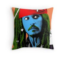 Captain Jack Sparrow Andy Warhol style Poster, Pop Art Big Digital Poster Portrait.  Throw Pillow