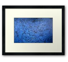 Dancing Blue 3 Framed Print