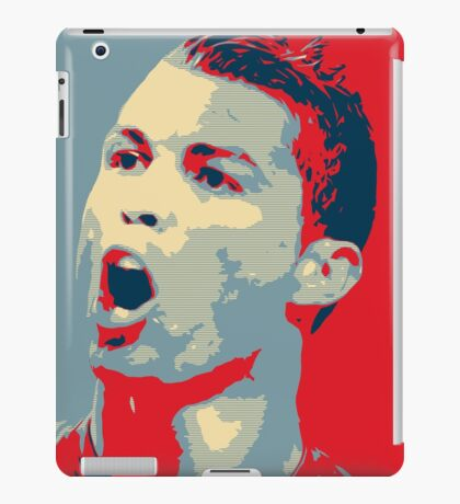 """Cristiano Ronaldo Portrait inspired by the Barack Obama """"Hope"""" poster designed by Shepard Fairey. iPad Case/Skin"""