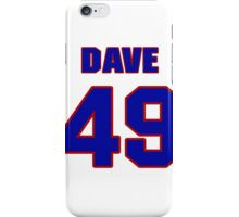 National football player Dave Becker jersey 49 iPhone Case/Skin