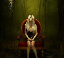Magical red chair by Britta Glodde