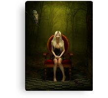 Magical red chair Canvas Print
