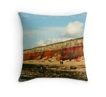 CLIFFS AT OLD HUNSTANTON Throw Pillow