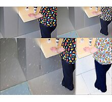Man At Apple Store NYC Photographic Print