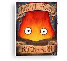 Studio Ghibli Illustration: CALCIFER #2 Canvas Print