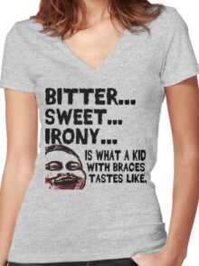 Bitter Sweet Irony Women's Fitted V-Neck T-Shirt