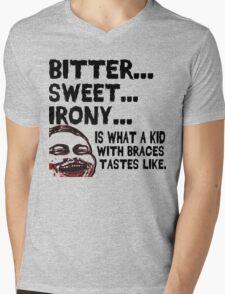 Bitter Sweet Irony Mens V-Neck T-Shirt