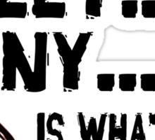 Bitter Sweet Irony Sticker