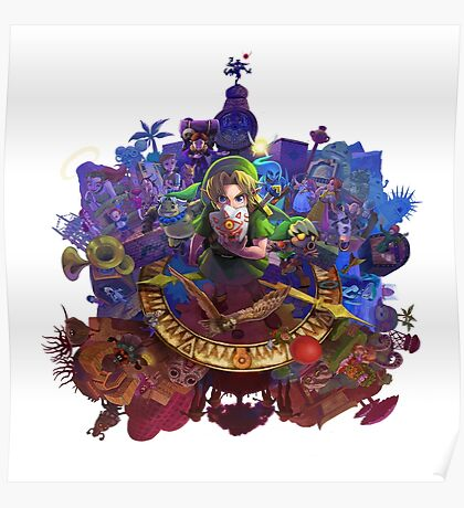 The Legend of Zelda Majora's Mask 3D Artwork #3 Full Cover Poster