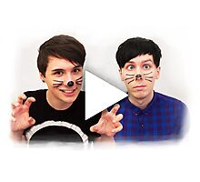 Dan & Phil YouTube Play Button Photographic Print