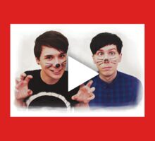 Dan & Phil YouTube Play Button Kids Clothes