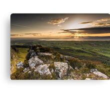 Sunset from Binevenagh Canvas Print