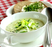 Leek Chiffonades Soup  by SmoothBreeze7
