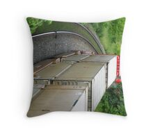 Driven Round the Bend Throw Pillow