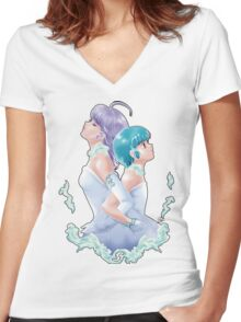 Creamy X Yuu Women's Fitted V-Neck T-Shirt