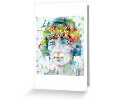 KATHERINE MANSFIELD - watercolor portrait Greeting Card