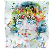 KATHERINE MANSFIELD - watercolor portrait Poster