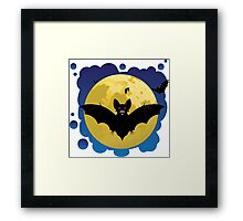 Bats and Moon Framed Print